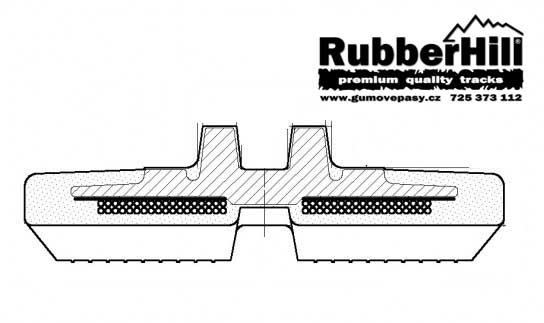Gumové pásy RubberHill zesílené s dvojitým vinutím