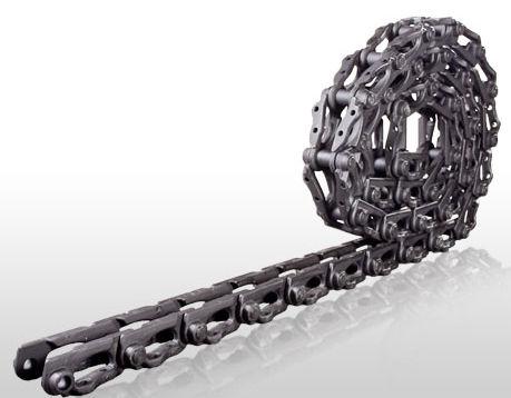 Ocelové řetězy na pásové stroje